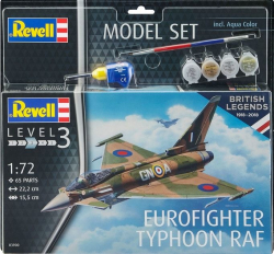 Plastový model Revell Eurofighter Typhoon RAF, Model set 63900