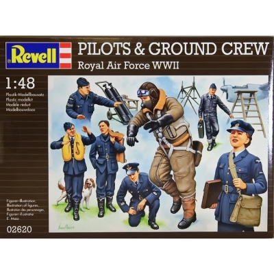 Plastové figúrky Revell Pilots & Ground Crew RAF WWII 02620
