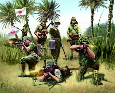 Plastové figúrky Revell Japanese Infantry WWII 02528