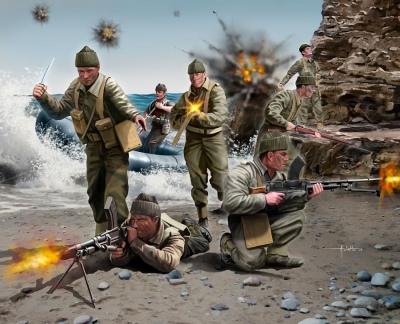Plastové figúrky Revell British Commandos WWII 02530