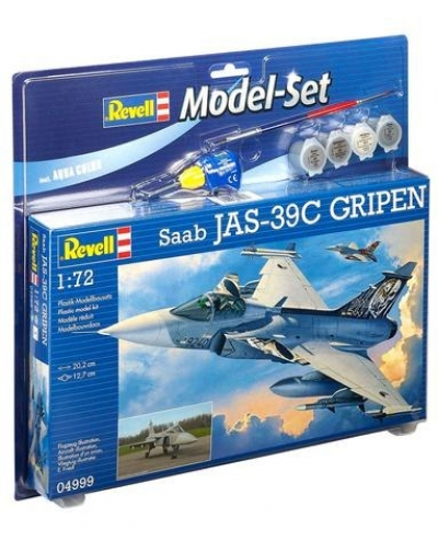Plastikový model Revell Saab JAS 39C Gripen Model Set, 64999