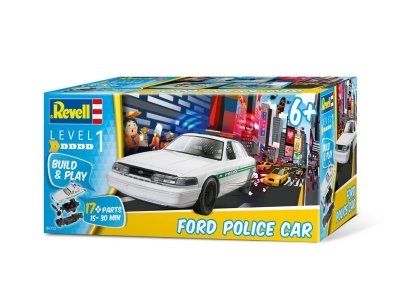Plastikový model na skladanie Revell Ford Police Car Build&Play 1/25, 06112