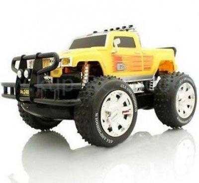 RC auto Obojživelník Hummer amphibious žltý, 4x4
