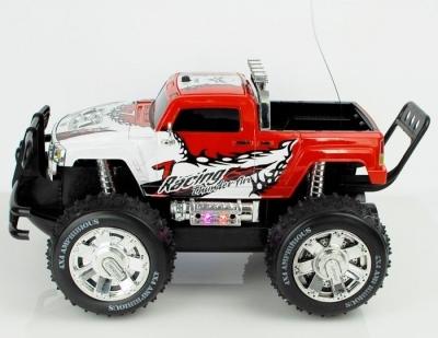 RC auto Obojživelník Hummer Amfibious červeno biele, 4x4