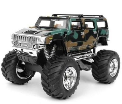 RC auto mini Hummer monster 2008D-8 zelenohnedý
