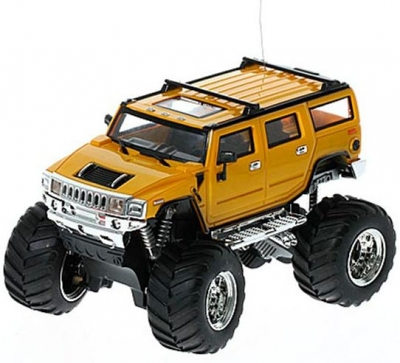 RC auto mini Hummer monster 2008D-7 žltý
