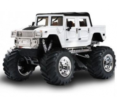 RC auto mini Hummer monster 2008D-4 biely