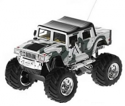 RC auto mini Hummer monster 2008D-3 bielozelený