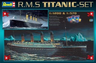Plastikový model na lepenie Revell R.M.S. Titanic gift set 05705