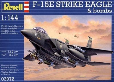 Plastikový model Revell F-15E Strike Eagle & Bombs 1/144, 03972