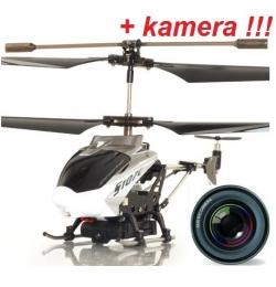RC vrtuľník na diaľkové ovládanie Syma S107C s kamerou, biela