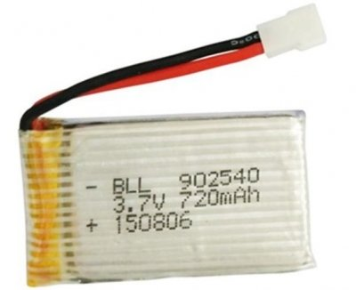 Náhradný akumulátor LiPo 3.7V 720mAh, Cheerson CX-30W  X5SC / X5SW / X5 / X5C