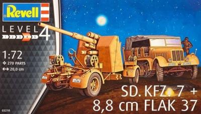 Plastikový model Revell SD.KFZ. 7 & 8,8 cm FLAK 37 1/72, 03210