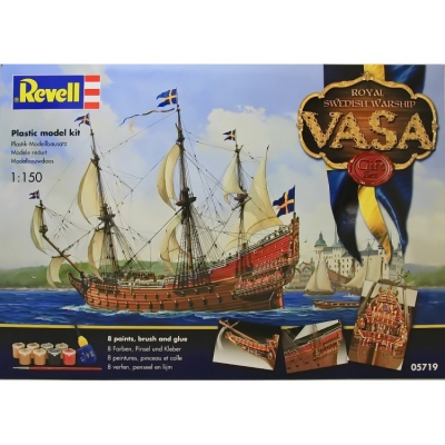 Plastikový model Revell VASA Royal Swedish Warship Gift-set, Model Set, 65719