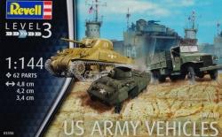 Plastikový model Revell US Army vehicles WWII (6 vozidlá) 1/144, 03350