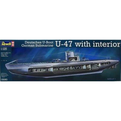Plastikový model na lepenie Revell German Submarine U-47 w. Interior, 05060