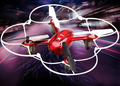 RC dron na ovládanie Syma X11c, HD kamera 2MP, 4CH 2,4GHz, červená