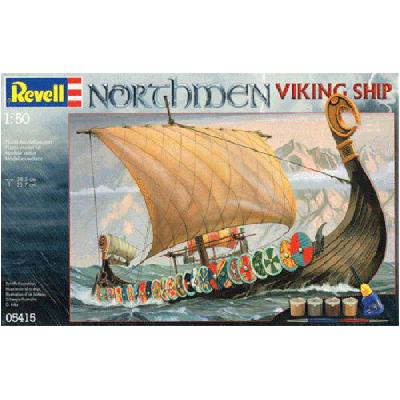 Plastový model Revell Northmen - Viking Ship GiftSet, 05415