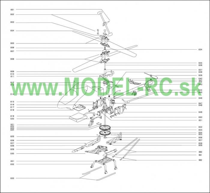 Servisny manuál MJX T05, T605, T-05, T-605