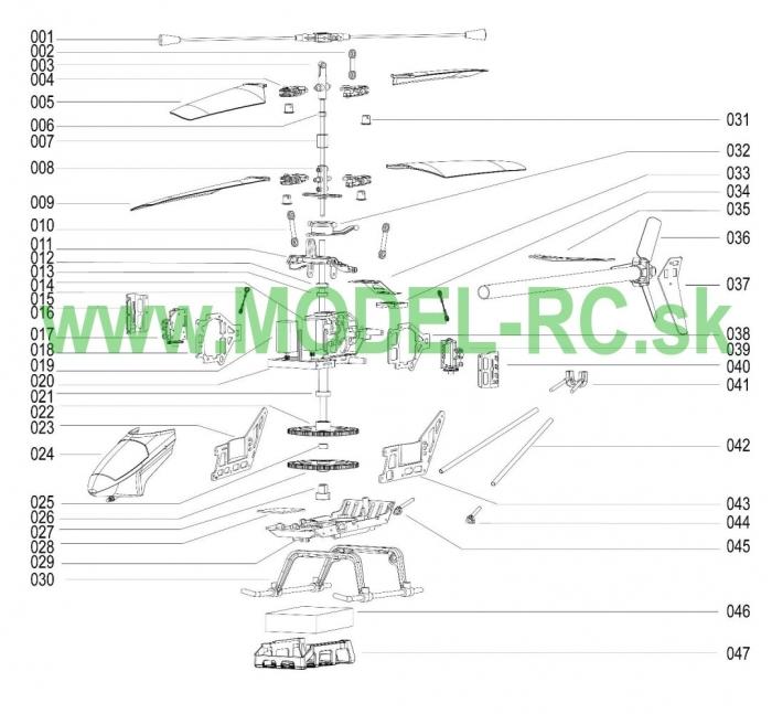Servisny manuál MJX F28, F628, F-28, F-628