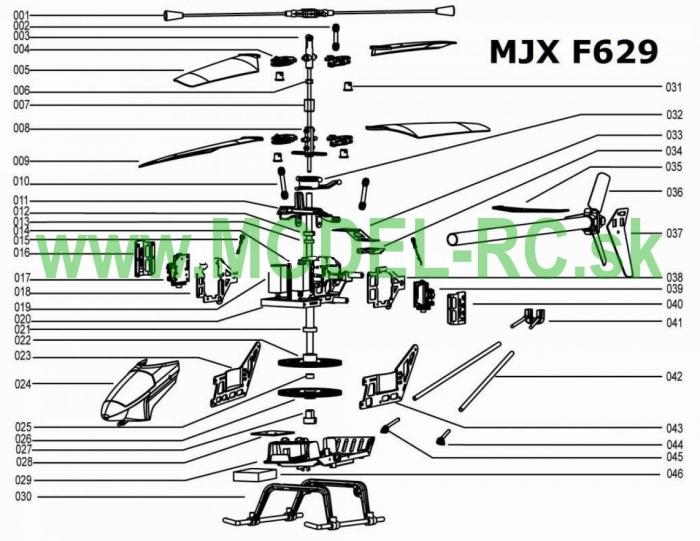 Servisny manuál MJX F29, F629, F-29, F-629