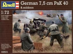 Plastové figúrky Revell German 7,5 cm PaK 40 & soldiers 1/72, 02531