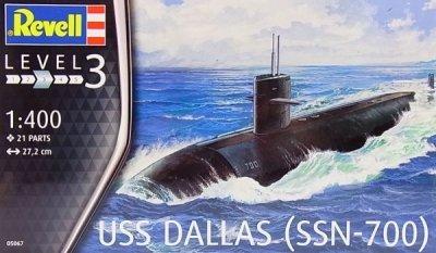 Plastikový model na lepenie Revell USS Dallas (SSN-700) 1/400, 05067