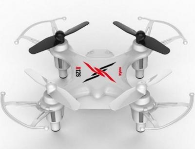 RC drony na ovládanie Syma X12S nano, 4 CH 2,4GHz, 6 axis gyro, bielá