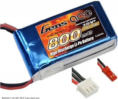 Náhradná batéria LiPo 7.4V 800mAh 40C Gens Ace