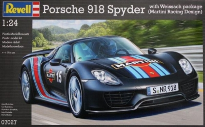 Plastový MODEL SET na lepenie Porsche 918 Spyder 1/24, Revell  67027