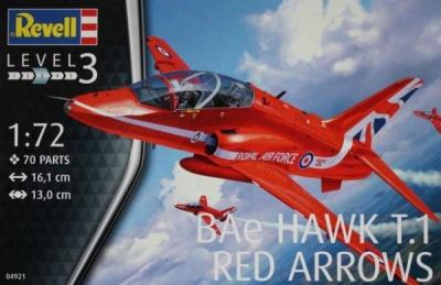 Plastikový model Revell BAe Hawk T.1 Red Arrows 1/72, 04921