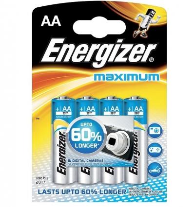 Alkalická batéria Energizer MAXIMUM  AA - LR6/4 4ks