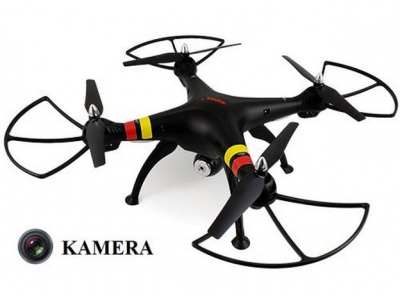 RC drony na diaľkové ovládanie Syma X8C venture s HD kamerou 2MP, čierná