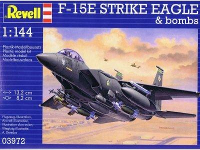 Plastový model Revell F-15E Strike Eagle & Bombs Model Set1/144, 63972