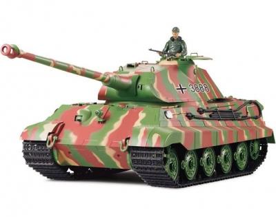 RC tank na ovládanie German King Tiger Porsche veža 1:16, airsoft