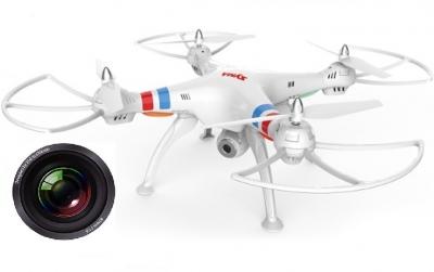 RC drony na diaľkové ovládanie Syma X8C venture s HD kamerou 2MP, bielá