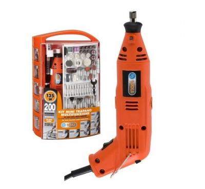 Elektrická mini vŕtačka PG Mini PG135W2 + 200 ks nástrojov s kufríkom