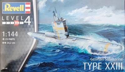 Plastový model na lepenie Revell German Submarine Type XXIII 1/144, 05140