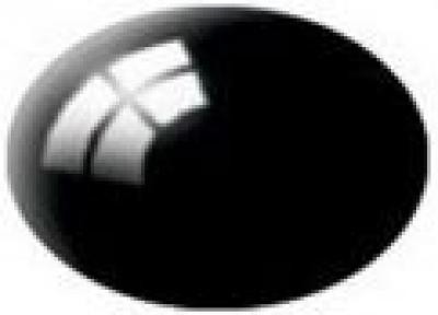 Aqua color 07 Čierna lesk – Revell 36107