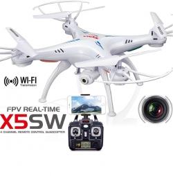 RC dron na ovládanie Syma X5SW Explorers 2, WiFi FPV, kamera HD, 2.4GHz
