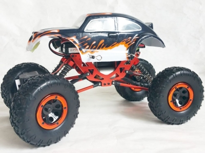 RC auto na ovládanie HSP Kulak Rock Crawler 4WD oranžové