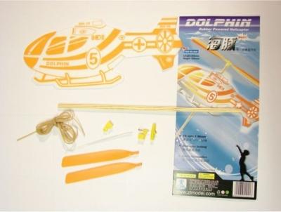Hádzadlo, vrtuľník na gumový pohon EC135 - Dolphin