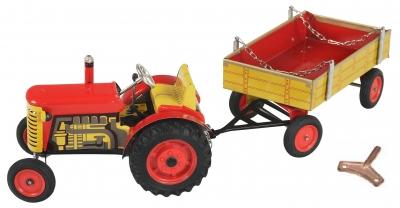 KOVAP Traktor Zetor a valník červený, hračka