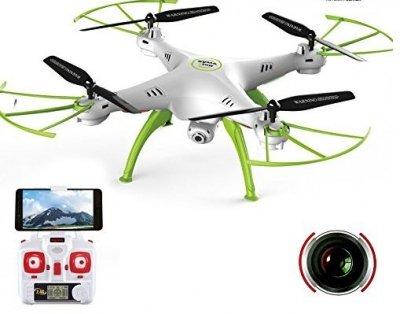 RC dron na diaľkové ovládanie Syma X5HW, WiFi FPV, kamera HD, 2.4GHz , zelená