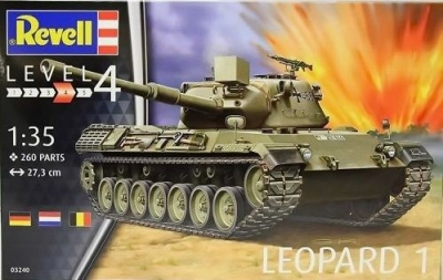 Plastikový model Revell Leopard 1 (2. - 4. production batch) 1/35, 03240