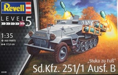 Plastikový model Revell Sd.Kfz. 251/1 Ausf. B Stuka zu Fuß 1/35, 03248