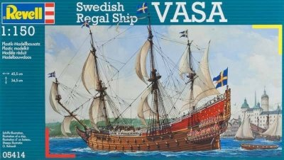 Plastový model Revell Swedish Regal Ship VASA ( Wasa ) 1/150, 05414
