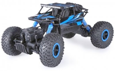 RC hračka na diaľkové ovládanie HB: ROCK CRAWLER 4WD, 2.4 GHz, 1:18 modrá