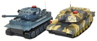 RC Súbojové tanky na diaľkové ovládanie, German Tiger - Abrams
