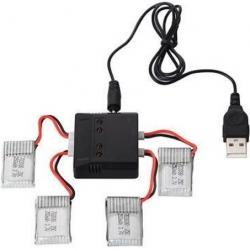 USB nabíjačka 4x Li-Po 3.7V, Walkera konektor